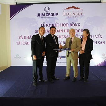 Signing Ceremony of the Resort Management between UHM Group and the 5-star Da Lat Edensee Resort on April 29, 2018